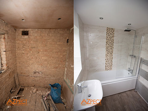 bathroom design chorlton by azpect design and installation - Bathroom Design Uk